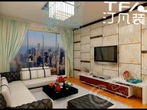 【汀凡装饰作品】融侨悦城121平米 三居室现代风格案例