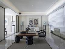 爱士居原创设计600㎡新中式峰墅,东方独有的空间美韵