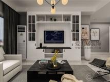 保利西山林语-135平-现代极简风格   爱士居装饰原创作品分享