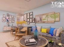 【汀凡装饰作品】中铁国际城品园 96平米现代简约风格案例赏析