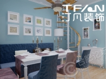 【汀凡装饰作品】胜利新村60平米带阁楼现代简约风格案例