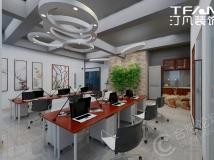 【汀凡装饰作品】宝文商务大厦 工业中式混搭风格办公室装修设计案例