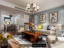 爱士居装饰原创作品分享   中央宫园-135平-美式风格