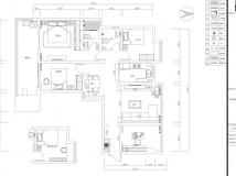 【大维装饰】家天下130平方户型现代简约风格案例赏析