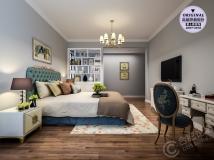【爱士居装饰】永和家园120平现代美式风格装修效果图