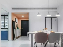 108㎡三室新房,配色又美又仙